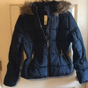 Navy Puffer Coat - BRAND NEW WITH TAGS